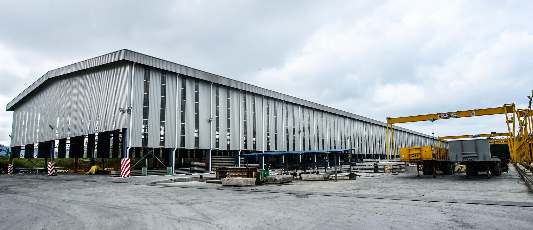 Precast Concrete Factory at Seelong Johor Bahru - Poh Cheong (M) Sdn Bhd